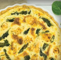 Spinach Quiche Recipe, featuring Young Living Essential Oils Basil Vitality, Oregano Vitality, and Rosemary Vitality