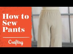 How to sew pants: Elastic waist wide-leg style | Sewing Tutorial with Angela Wolf - YouTube