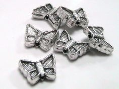 20 x  12mm Tibetan Silver Butterfly Beads Spacers Jewellery Craft Beading  L61