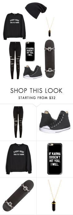 """Untitled #114"" by darksoul7 on Polyvore featuring New Look, Converse, Private Party and Casetify"