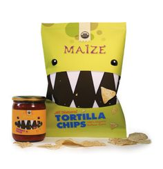 packaging design for tortilla chips. student design - I love this design and I love even more that it was done by a student.
