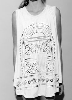 Laser cut shirt - Click image to find more Women's Fashion Pinterest pins