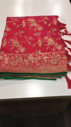 Pink Banarasi Silk Traditional Woven Saree with Peacock Motifs Pink Saree Silk, Brocade Saree, Saree Floral, Silk Saree Kanchipuram, Chanderi Silk Saree, Wedding Silk Saree, Indian Silk Sarees, Pink Half Sarees, Half Saree Lehenga