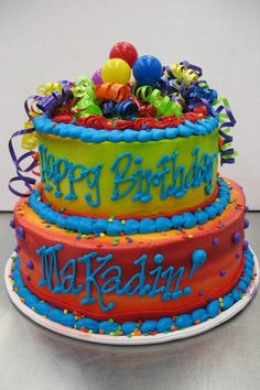 Little Monster First Birthday Party Cake by Stephanie Dillon LS1 Hy