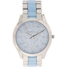 Michael Kors Slim Runway Stainless Steel Watch, 42 mm ($139) ❤ liked on Polyvore featuring jewelry, watches, silver, stainless steel watches, water resistant watches, stainless steel wrist watch, dial watches and stainless steel jewellery