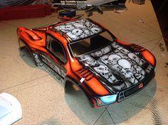 Custom Painted Rc Body Traxxas Stampede Vxl Jato Rustler