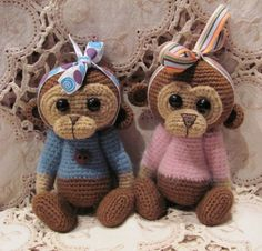 Little monkeys ~ I love these ~ just need two pink ones