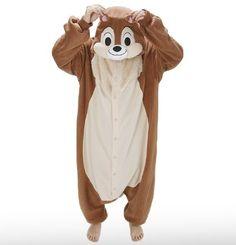 Amazon.com: Japan Official Sazac Disney Onesie Chip and Dale Kigurumi Pajamas Chip Costume Cosplay: Toys & Games