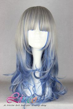 Gray Purple Lolita wig http://www.etsy.com/listing/162539241/45cm-long-black-and-yellow-beautiful?ref=shop_home_active