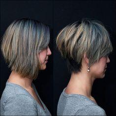Stylish Easy Pixie Haircut for Women - Cute Short Hairstyle Ideas Long Pixie Hairstyles, Haircuts For Fine Hair, Haircut For Thick Hair, Short Pixie Haircuts, Everyday Hairstyles, Straight Hairstyles, Bob Haircuts, Hairstyles For Fat Faces, Stacked Haircuts