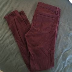Bullhead burgundy jeggings Only worn a couple of times, these burgundy jeggings are super soft and in great condition! Bullhead Jeans Skinny