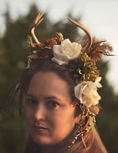 Woodland Fantasy Deer Antler Headpiece / Fairy Wear. $159.00, via Etsy.