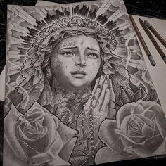 Almost done with this piece.just little adjustments. Clock Tattoo Design, Sketch Tattoo Design, Tattoo Sketches, Tattoo Drawings, Hai Tattoos, Body Art Tattoos, Sleeve Tattoos, Catrina Tattoo, Clown Tattoo