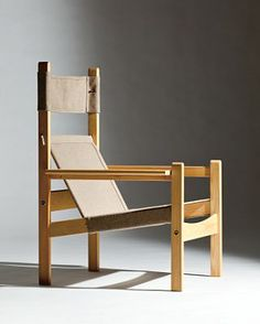 Rolf Rastad & Aldolf Relling; Pine and Canvas 'Futurum' Chair by Sørlie Furniture, 1965. //admired by http://www.truelatvia.com