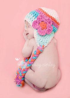 baby girl hat crochet baby hat crochet kids by VioletandSassafras