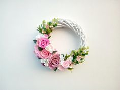 Summer Door Wreath, Rose and Hydrangea wreath, Outer wreath, Flower wreath, Fl … – Front Door Wreaths – Wreaths Rose Bridal Bouquet, Bridal Flowers, Hand Flowers, Types Of Flowers, Summer Door Wreaths, Wreaths For Front Door, Hydrangea Wreath, Floral Wreath, Christmas Advent Wreath