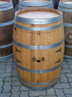 Escher's Fassmöbel - Weinfass Weinschrank mit Zwischenboden