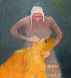 Mel McCuddin, Yellow Bear 2008, oil on canvas