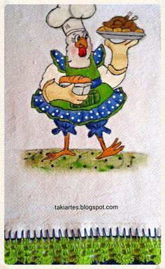 Pano de prato galinha cozinheira!