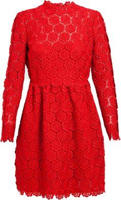 Valentino Macramé Lace Dress - Lyst