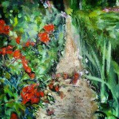Original oil on canvas by Impressionist, Julie Tucker-Demps.