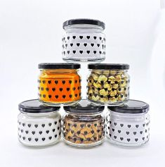 Airtight Black Heart Printed Glass Lid Jar Set Of 300 ml – Crystalware Kitchen Storage Containers, Jar Lids, Black Heart, Heart Print, Glass Jars, Printed, Glass Pitchers, Prints, Glass Bottles