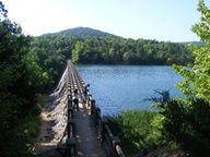 Hiking out at Lake Leatherwood