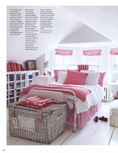 Love the style would change the color to blue tones on bedding and curtains
