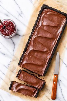 Tart Cherry Chocolate Truffle Tart