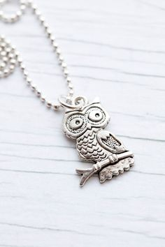 can never have enough owl necklaces. NEVER.
