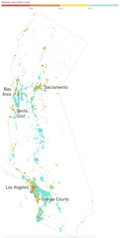 Vaccination Rates for Every Kindergarten in California ~ Data Viz Done Right
