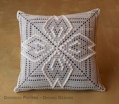 Modèle de cornouiller 12 oreiller de carré au Crochet