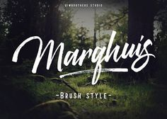 Marqhuis brush font by Qiwbrother Studio on @creativemarket