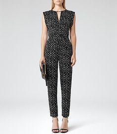 Otto Dalmatian Print Jumpsuit, Perdita Spot - Reiss