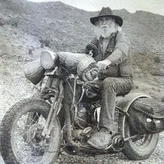 old cowboy on his steel horse | #motorcycle #motorbike