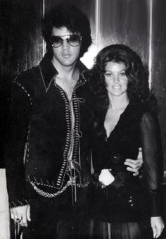 The love of his life Pricilla and Elvis