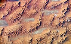 The International Space Station image of a dune sea in the Sahara Desert, Eastern Algeria pictured from space.  Picture: Barcroft Media