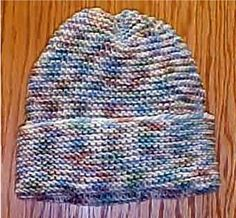 Beginner Easy Knit Hat - - Knit ePattern  - Frugal Knitting Haus