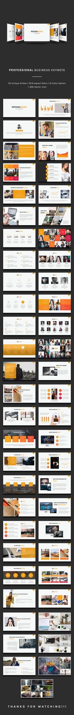 Professional Business Keynote Template - 50+ Unique Creative Slides, 400 Vector Icon