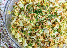 Ramen Noodle Salad is a side dish that everyone cheers for! get the recipe at barefeetinthekitchen.com