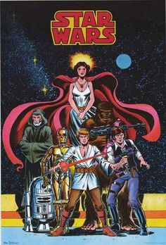 A fantastic poster of classic comic book art from the original 1970's Marvel Comics Star Wars series! Fully licensed - 2013. Ships fast. 24x36 inches. Be a good