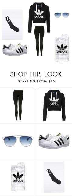 """Adidas lover😍"" by rennpe ❤ liked on Polyvore featuring Topshop, Christian Dior, adidas Originals, Casetify and adidas"