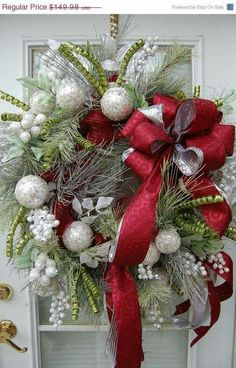 Christmas wreath - I like the bow