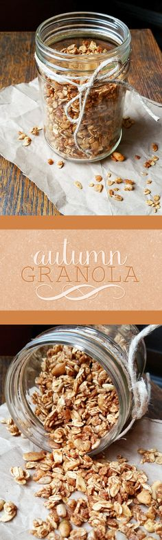 Celebrate fall with this seasonally spiced autumn granola! Perfect for breakfast or snacking, this granola bursts with cozy autumn flavor.