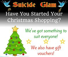Have you started your Christmas shopping yet? We have something for everyone, including gift vouchers for those who are hard to buy for! Suicide Glam Fashion Australia http://suicideglamfashion.com.au/index.php/
