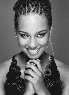 Alicia Keys (1981) - American R&B singer-songwriter, pianist, musician, record producer, and actress. Photo by Nigel Parry