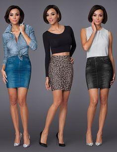 Jupes mit Slim-Effekt, blau, leopard, schwarz Denim Skirt, Mini Skirts, Sexy, Fashion, Skirt, Slim, Blue, Moda, Fashion Styles