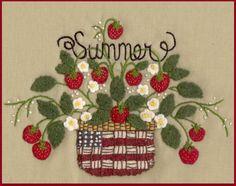 Wool Seasons: Summer -  Wool Applique Pattern - by Beth Ritter for Wellington House Designs - Instant Digital Download