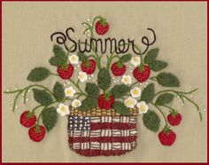 What better way to welcome summer than with a patriotic basket of fresh ripe, juicy, red strawberries? It would make a beautiful decorative