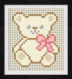 """Gráfico para punto de cruz de """"Teddy """"."""